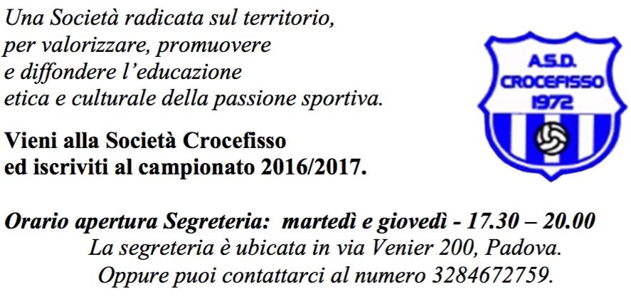 A.S.D. Crocefisso, nuovo anno !
