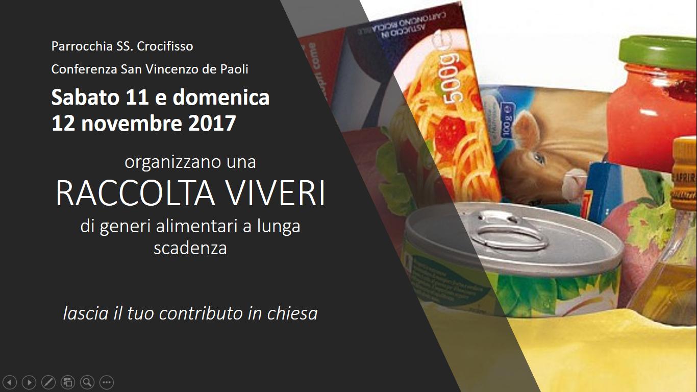 San Vincenzo – Raccolta Viveri